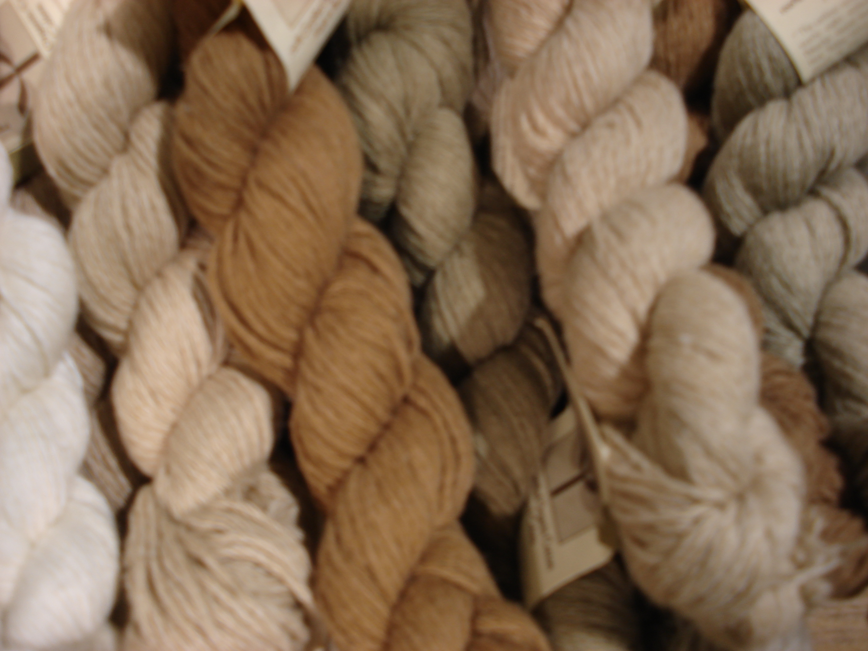 Foxfibre® Colorganic® naturally colored organic cotton and merino wool in the form of raw spinners seed cotton, prepared sliver, yarns, fabrics, and some articles of clothing. Bred, grown, designed and produced by Sally Vreseis Fox in the USA.