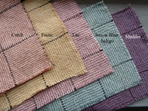Dyed napkin samples