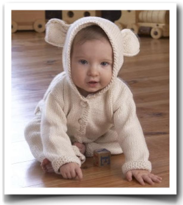 Knitting Pattern For Baby Cardigan With Hood And Ears : knitting patterns Cotton Clouds Talk