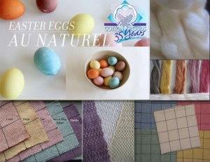 Top: Botanical Dyes, EZ-Dye Dye Lishus Cotton Sliver undyed and dyed; Bottom: EZ Dye Cotton woven into Napkins