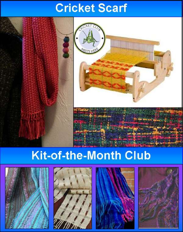 Knitting Club Of The Month : Rigid heddle weaving cotton clouds talk