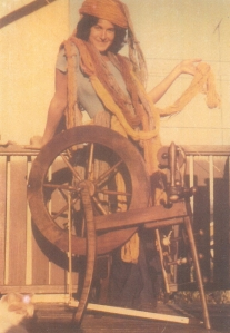 Irene & Ashford wheel 1973